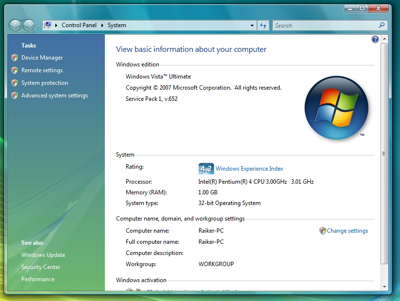 View topic - [OFFER] Windows Vista SP1 Build 6001 17036