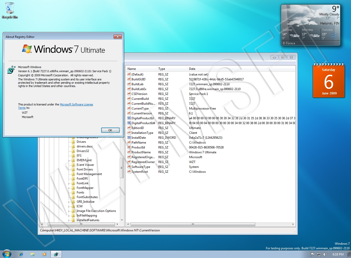 On Day Windows 7 Launched I Installed >> View Topic Leak Windows 7 Sp1 Build 7227 0 Winmain Sp 090602