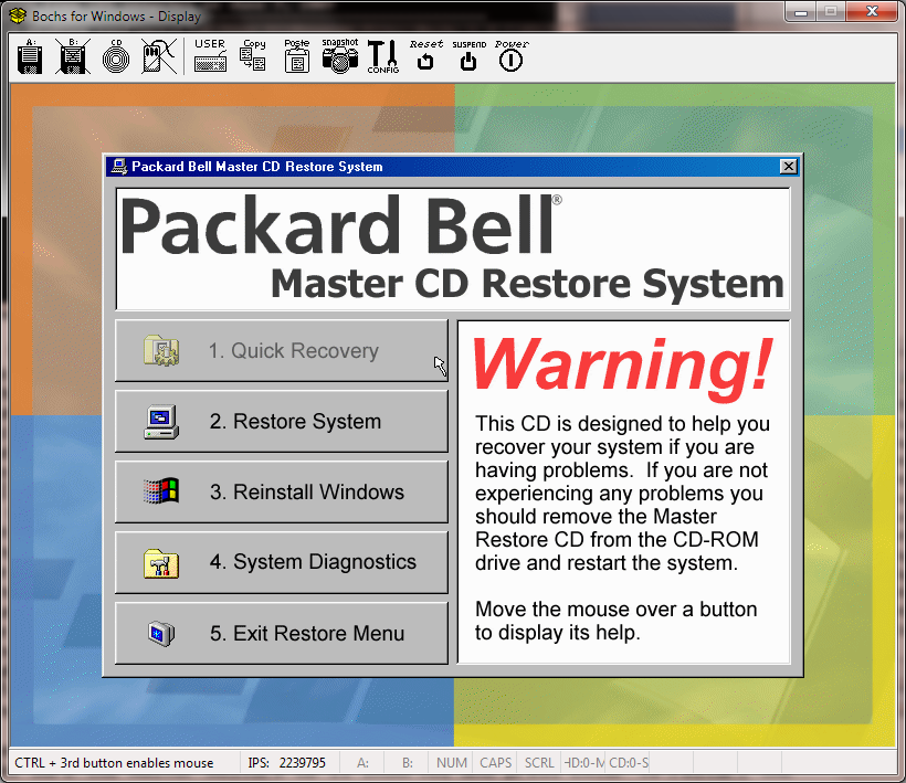 View topic - How I tricked my Packard Bell Restore disc