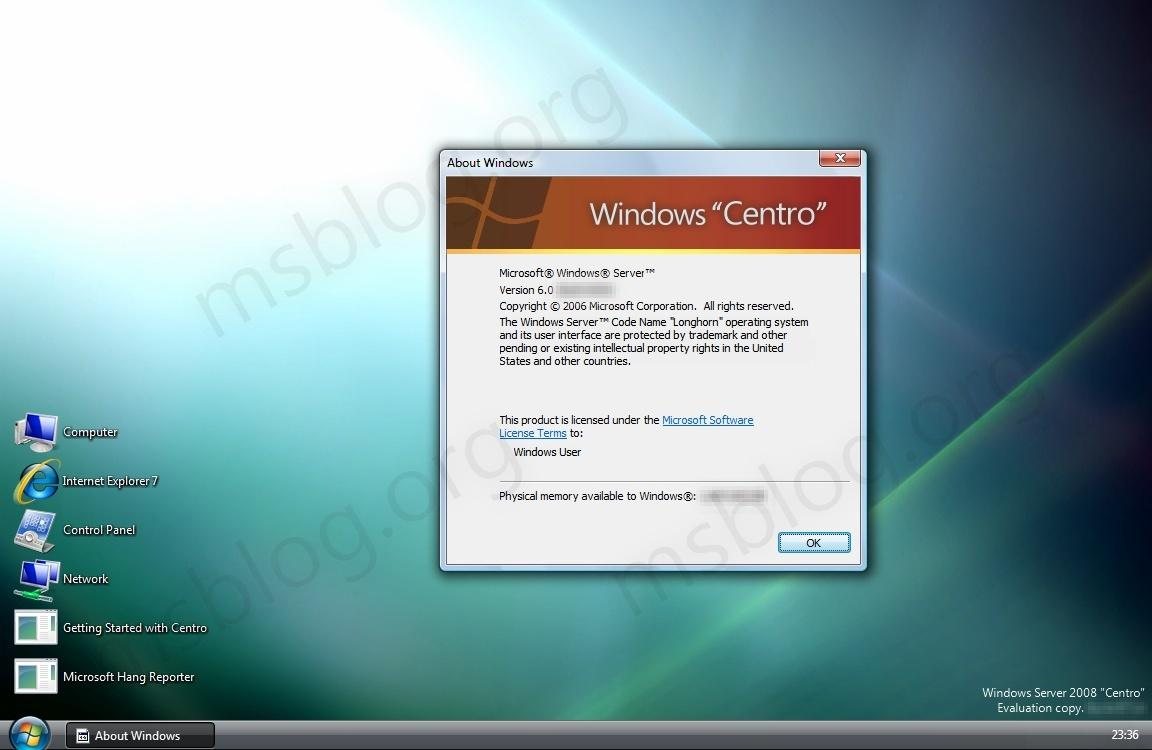 Windows 'longhorn' resurrected and available for download.