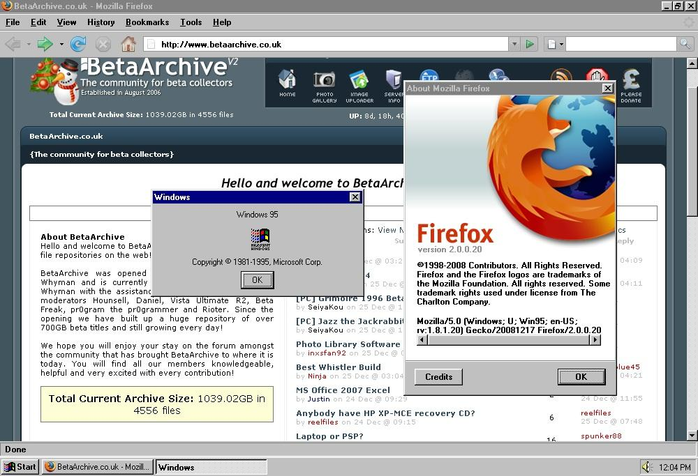 View topic - Firefox 2 0 0 20 Running on Windows 95 Tutorial