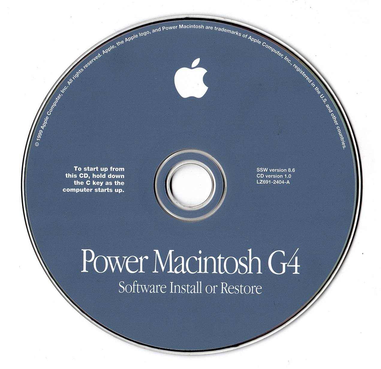 Apple Legacy Restore CD for Mac (1 cd)