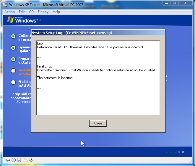 View topic - Windows XP Tablet 2005 Installation Problem - BetaArchive