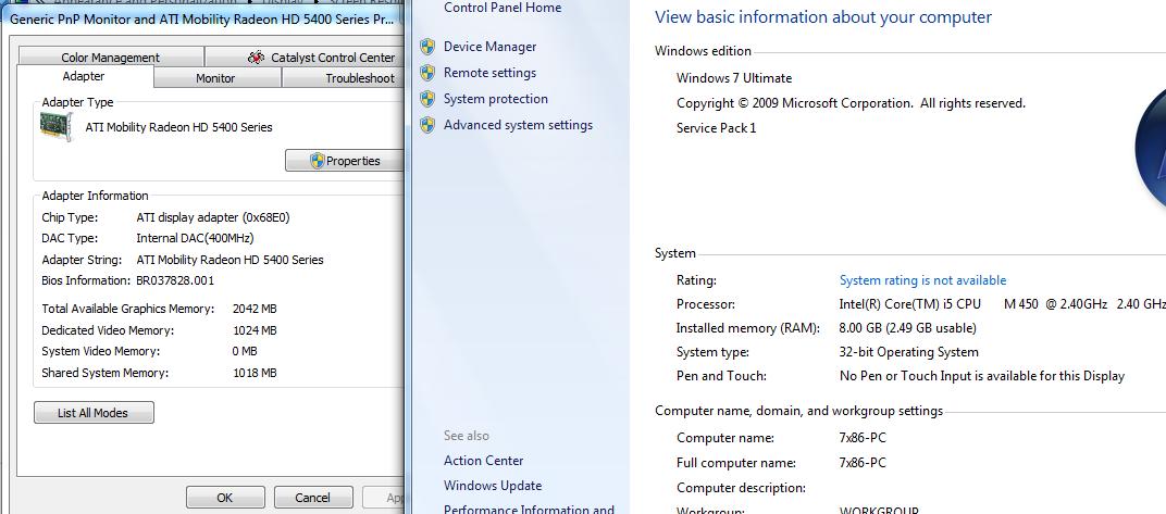 View topic - Windows recognising 2 5gb of ram instead of 3 25gb