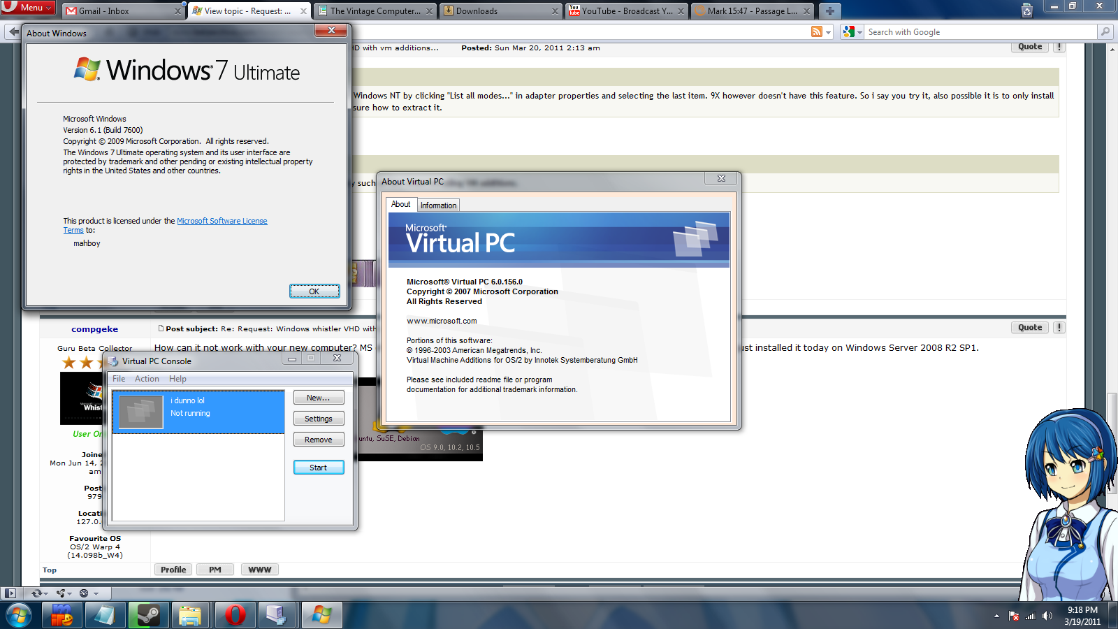 View topic - Request: Windows whistler VHD with vm additions