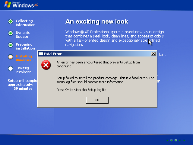 Windows xp error - 99b4f