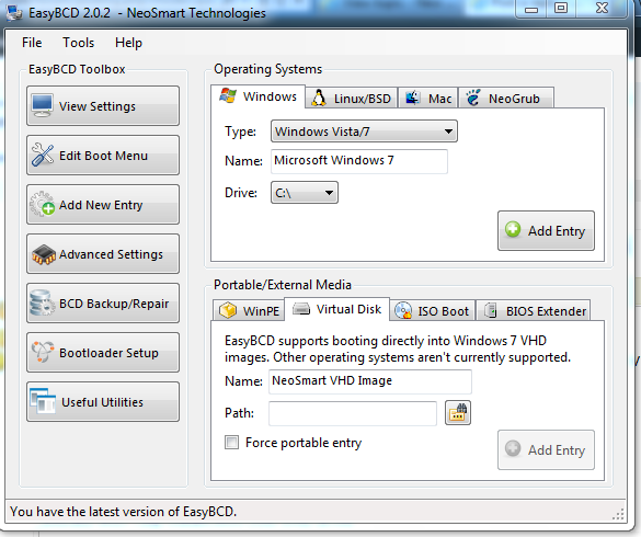 View topic - Install and Boot natively Windows XP on a VHD