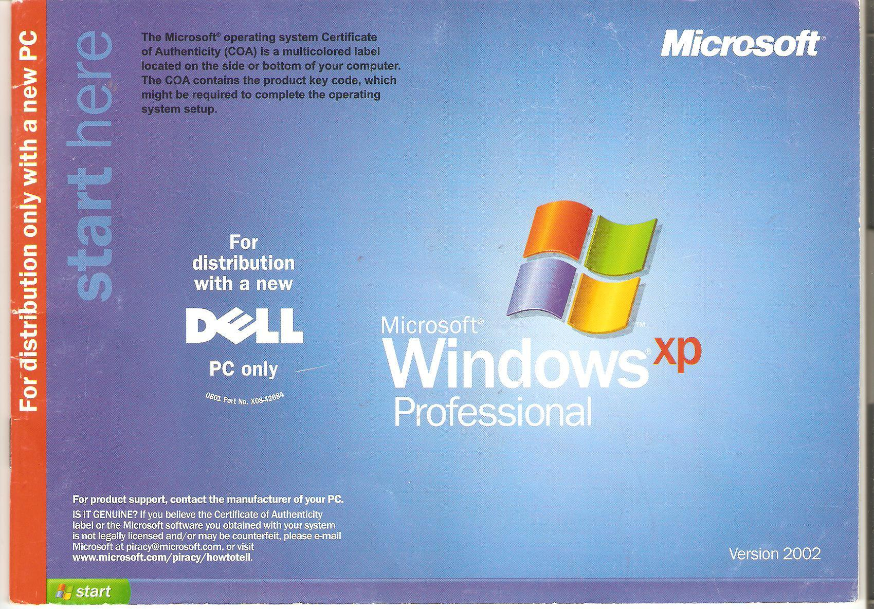 Инструкция windows xp oem