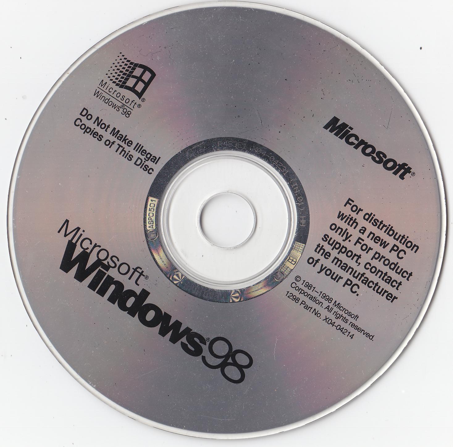 Bootable windows 98