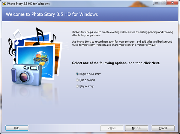 How to use photostory 3 for windows.