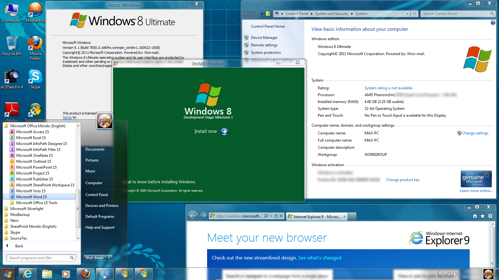 how to change view of windows 8 like windows 7