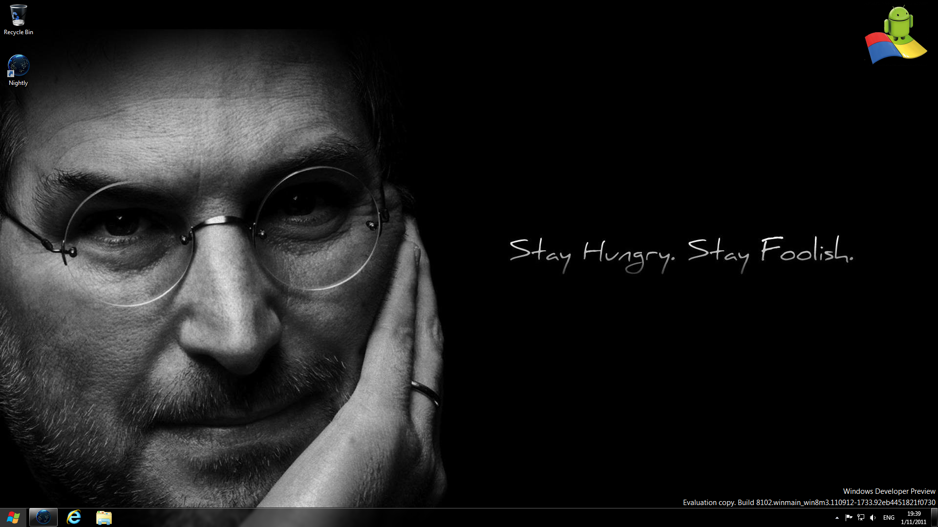 """Steve Jobs with """"Stay Hungry. Stay Foolish."""""""