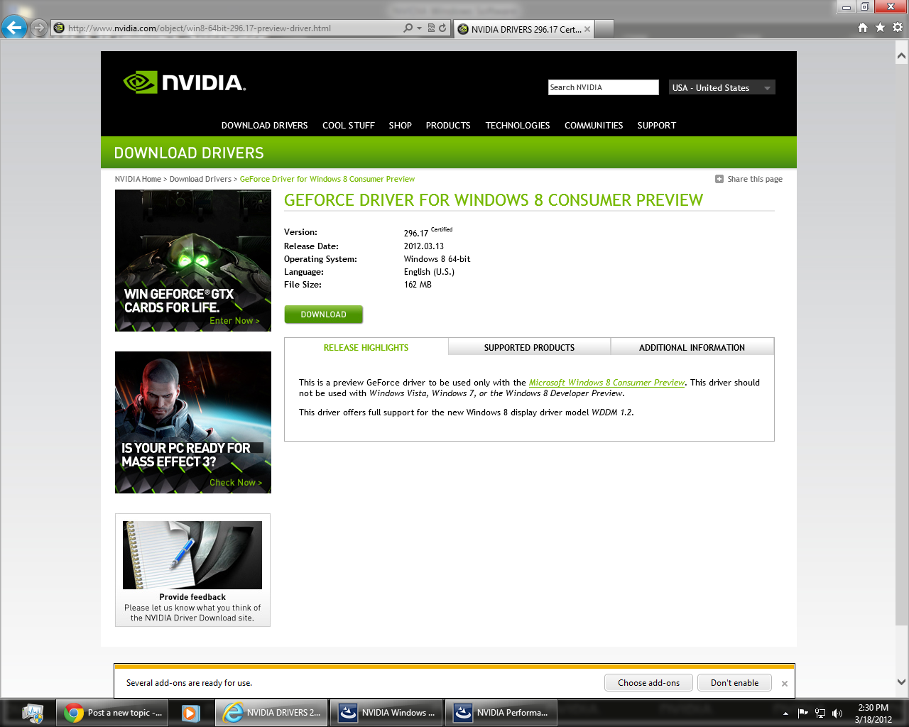 Nvidia Geforce Drivers Free Download For Windows 8