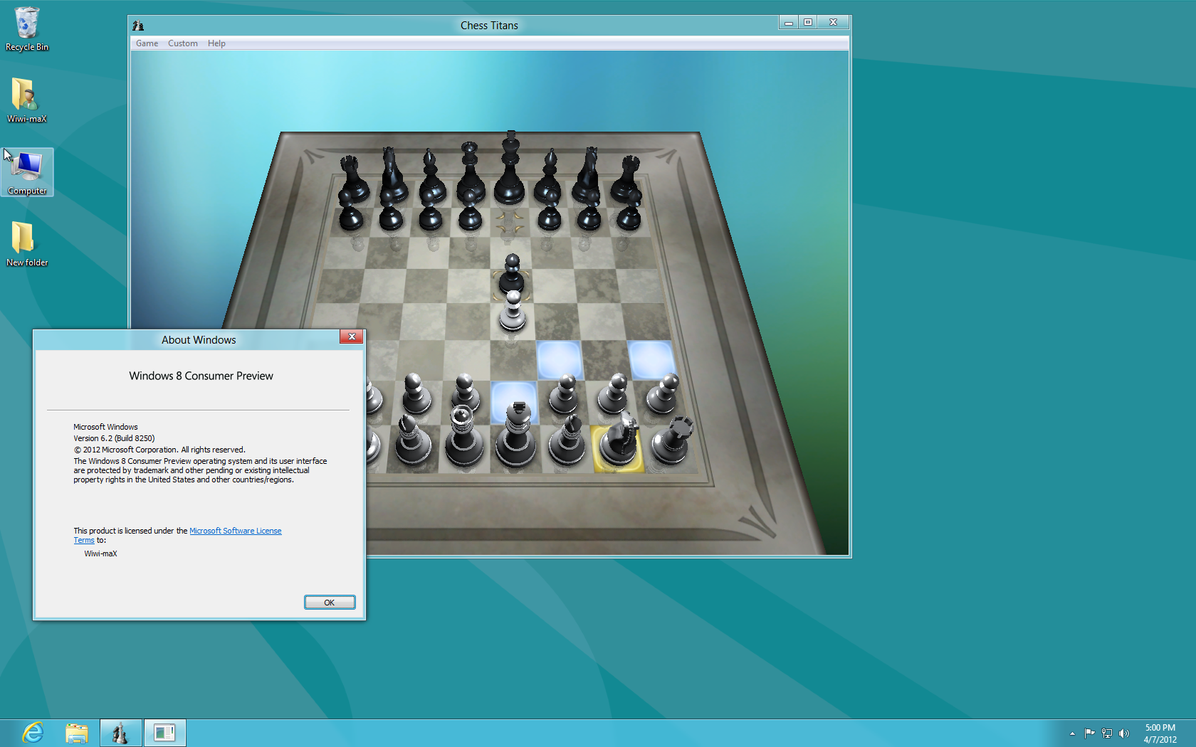 How do i install chess Titans on window 7 professional ...
