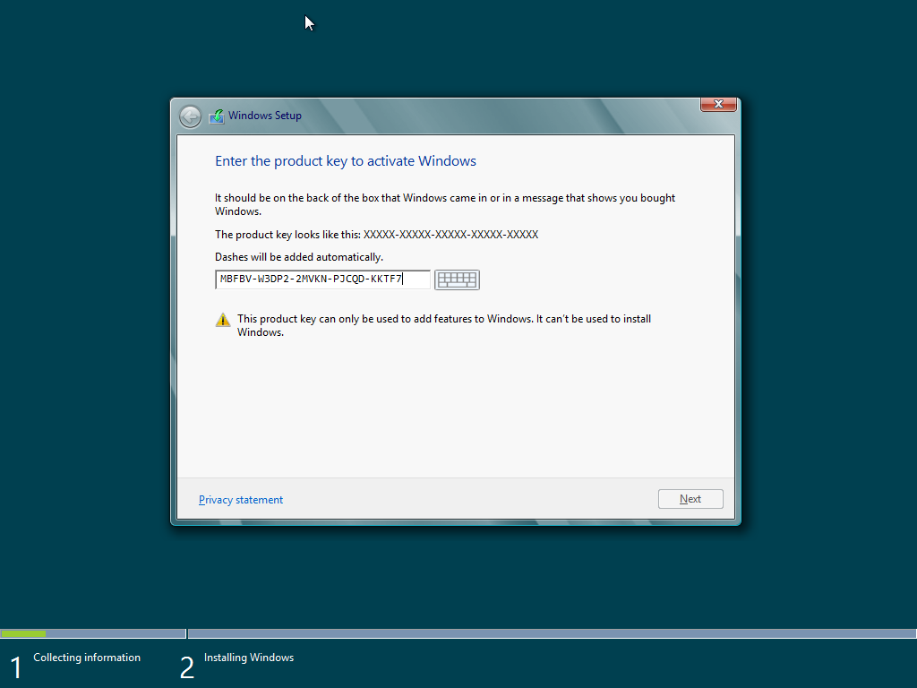 serial key windows 8