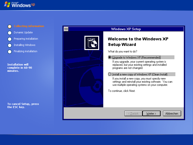 Reinstall windows xp winnt32 when does the new windows phone update come out