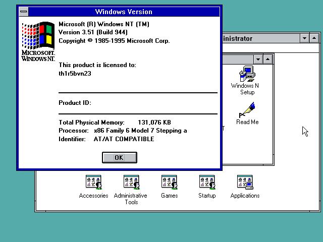 view topic windows nt 3 51 build 944 screenshot betaarchive