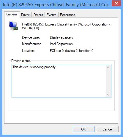 Intel 82945g video card