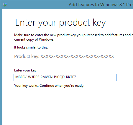 activation key for windows 8.1 enterprise build 9600