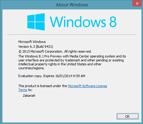 windows 8.1 pro media center product key