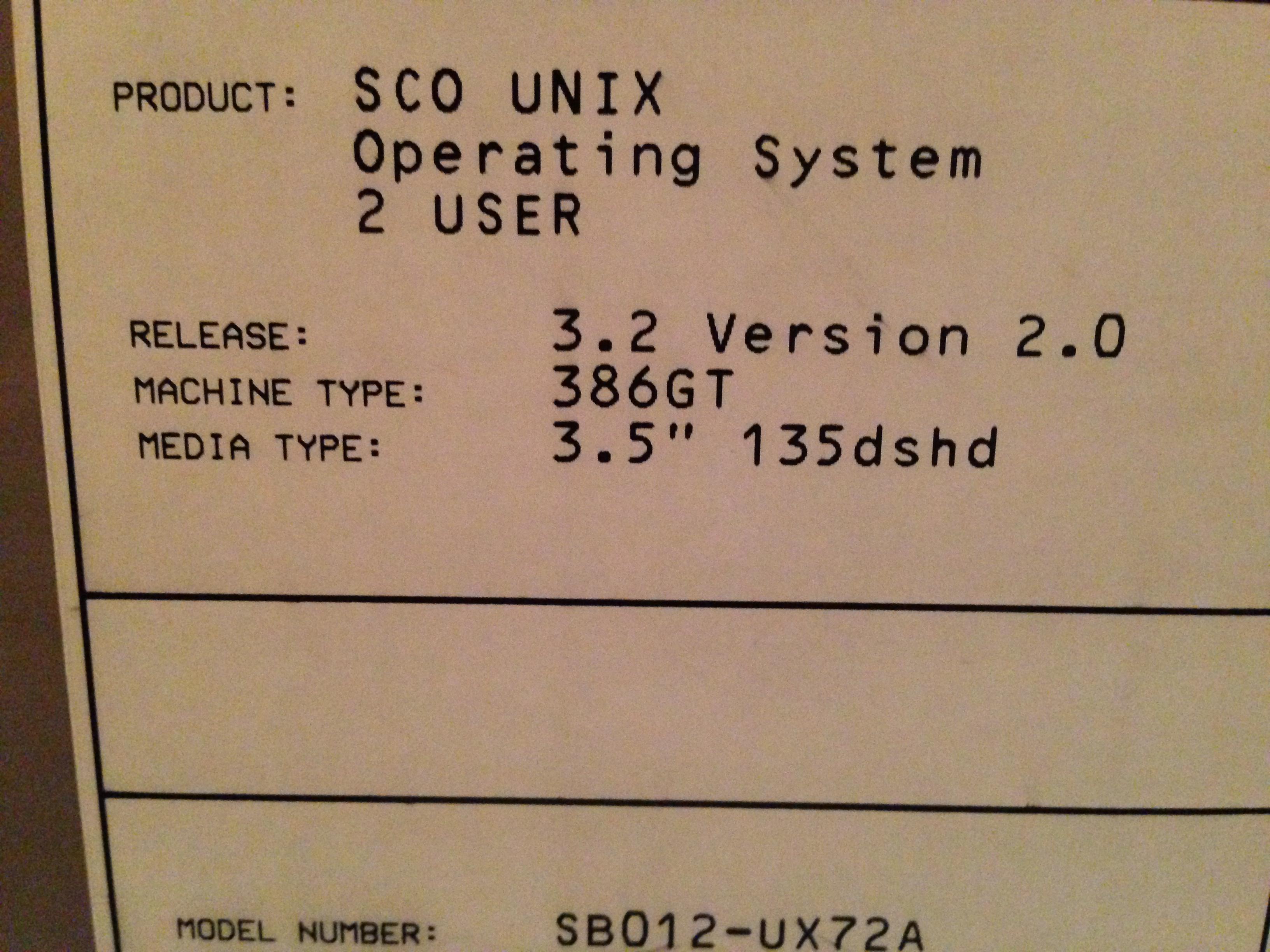 sco unix 3.2v4.2