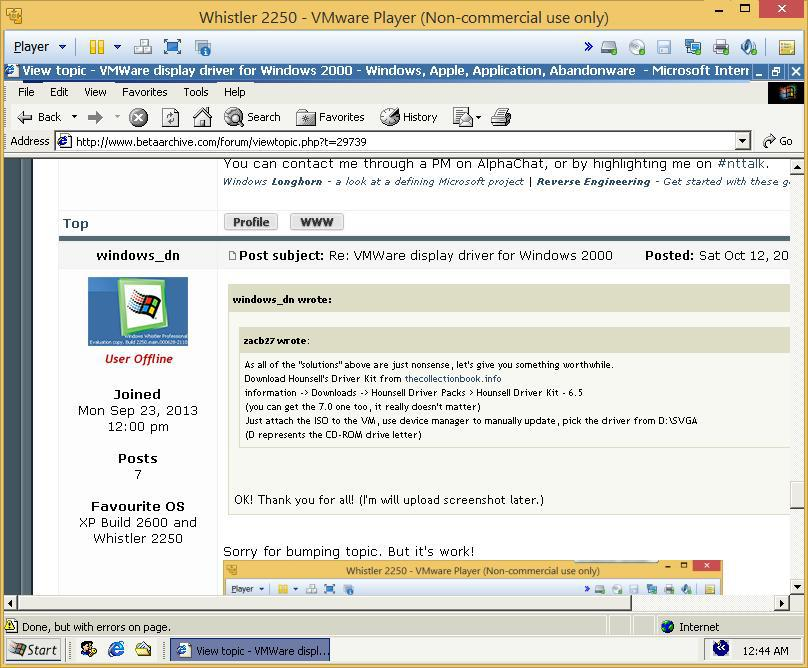 View topic - VMWare display driver for Windows 2000 - BetaArchive