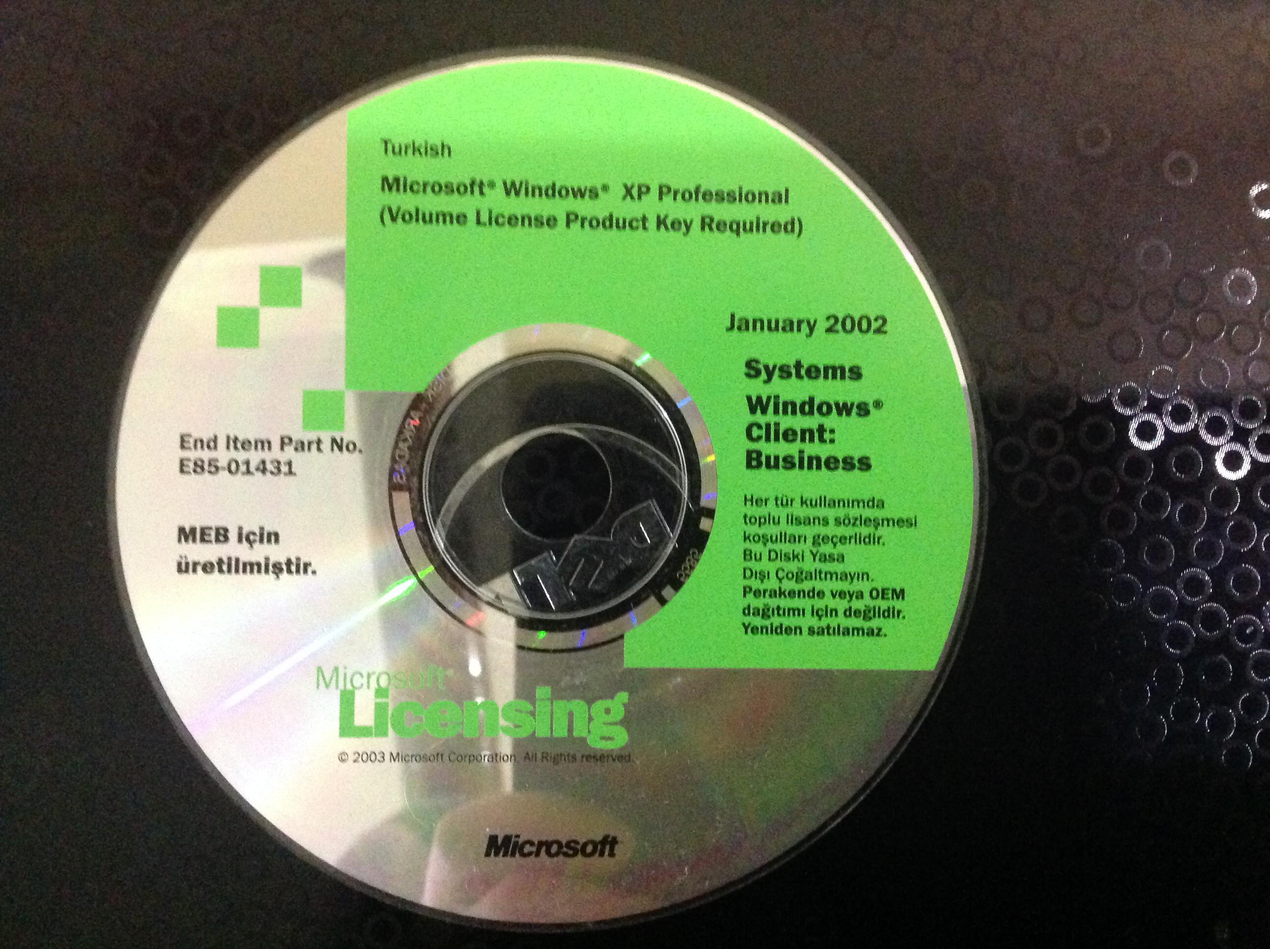 Windows xp volume license product key sp3