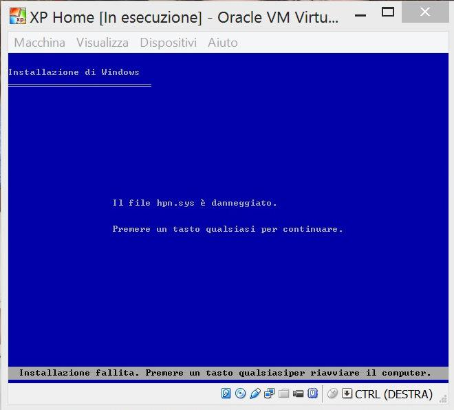View topic - XP Home Edition RTM Italian Error - BetaArchive