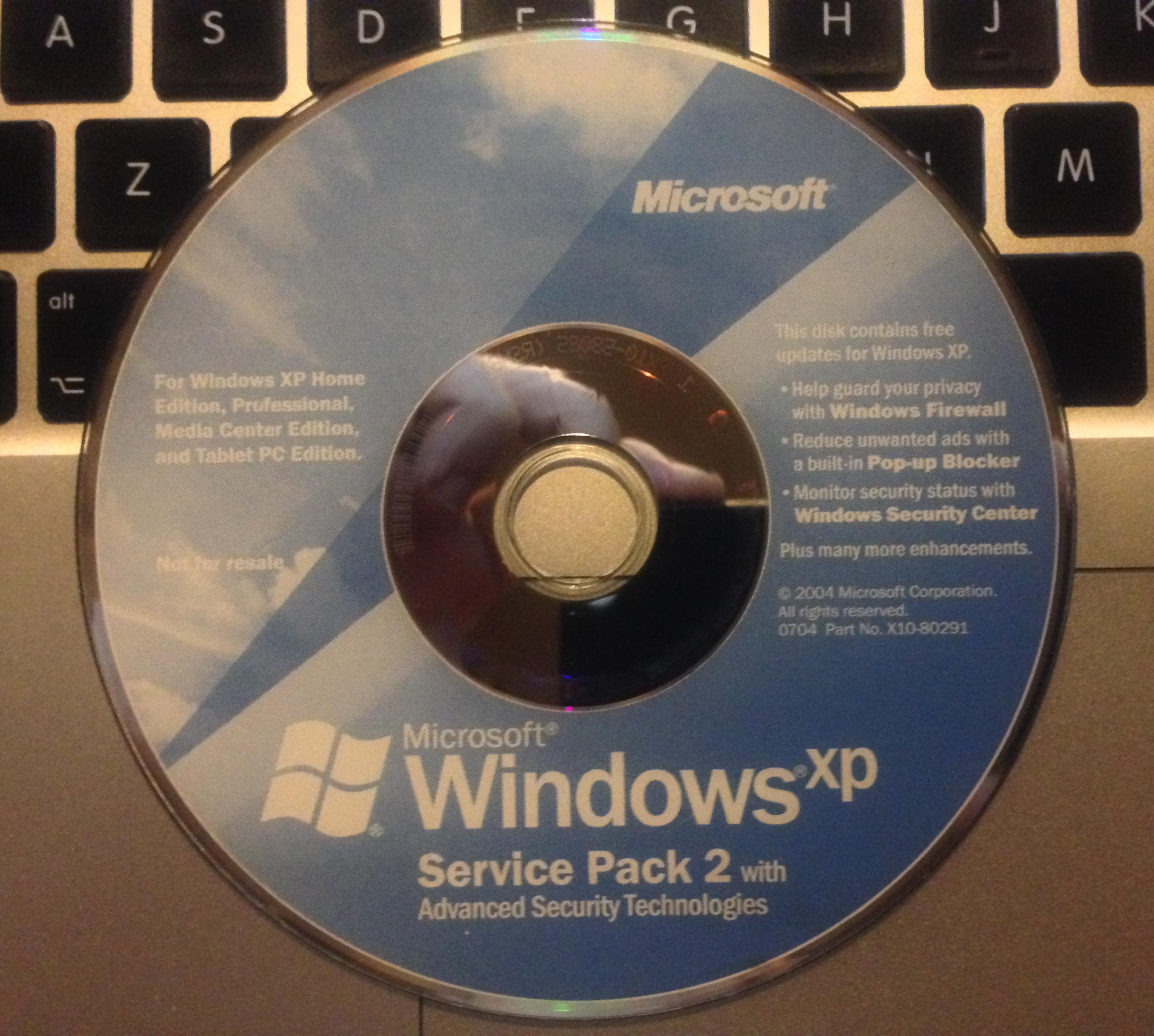 View topic - [OFFER] Windows XP Service Pack 2 CD [X10-80291