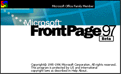 image of Microsoft Front-page 1997, source: betaarchive.org