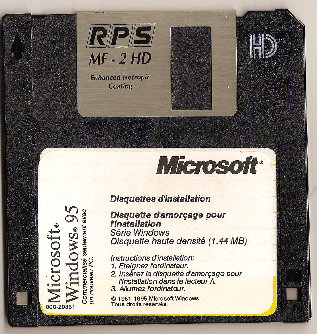 disquette boot windows 95