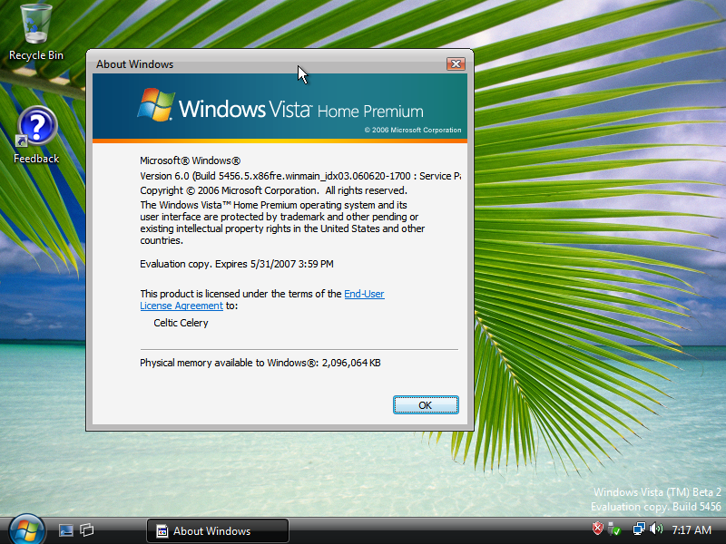 windows vista tm product key