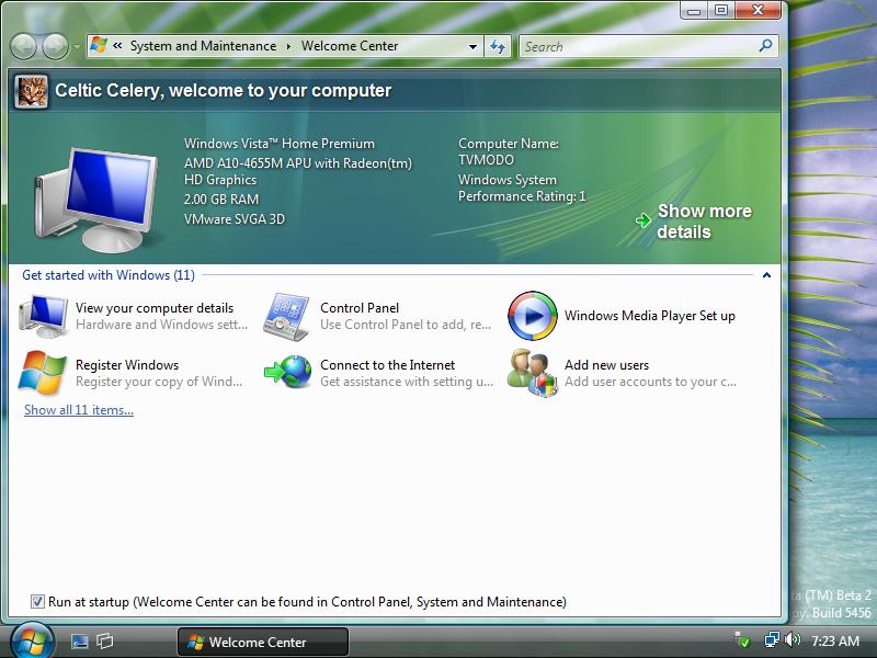 How to install windows vista beta 2.