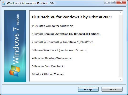 windows 7 activator genuine crack