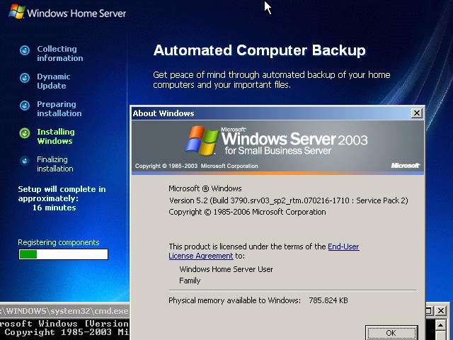 Windows Home Server Installation - BetaArchive