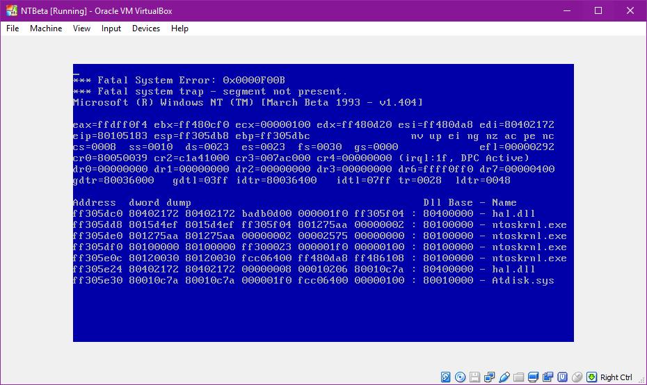view topic windows nt 3 1 build 404 438 f00b bug betaarchive