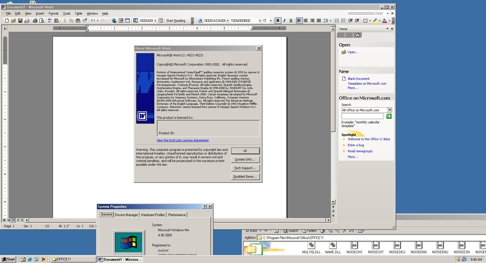 View topic - Windows ME and Office 2003* - working - BetaArchive