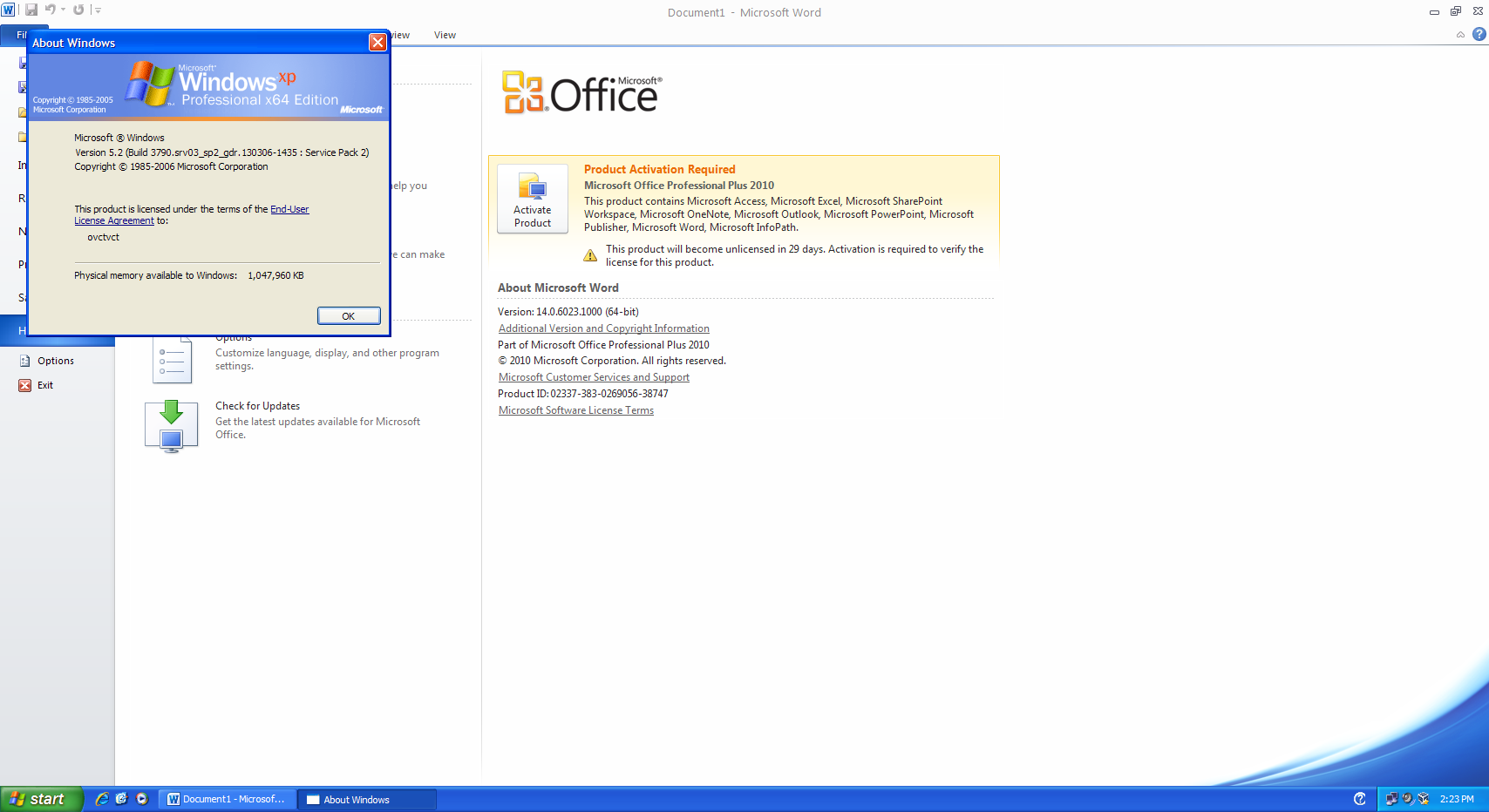 View topic office 2010 x64 on xp x64 revealed betaarchive - You cannot install the 32 bit version of office 2010 ...