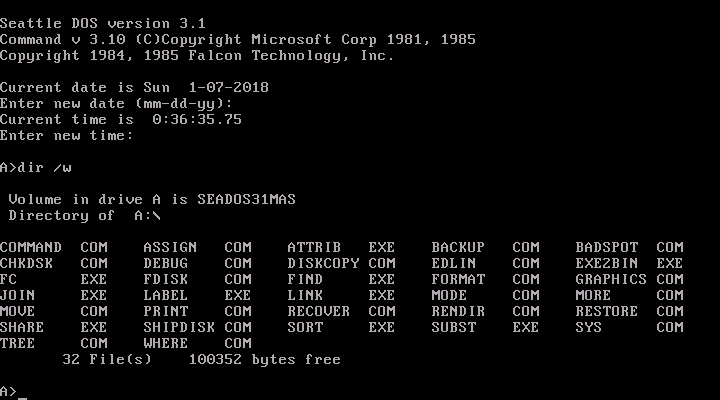 View topic - MS-DOS 3 10 / Seattle DOS 3 10 OEM - BetaArchive