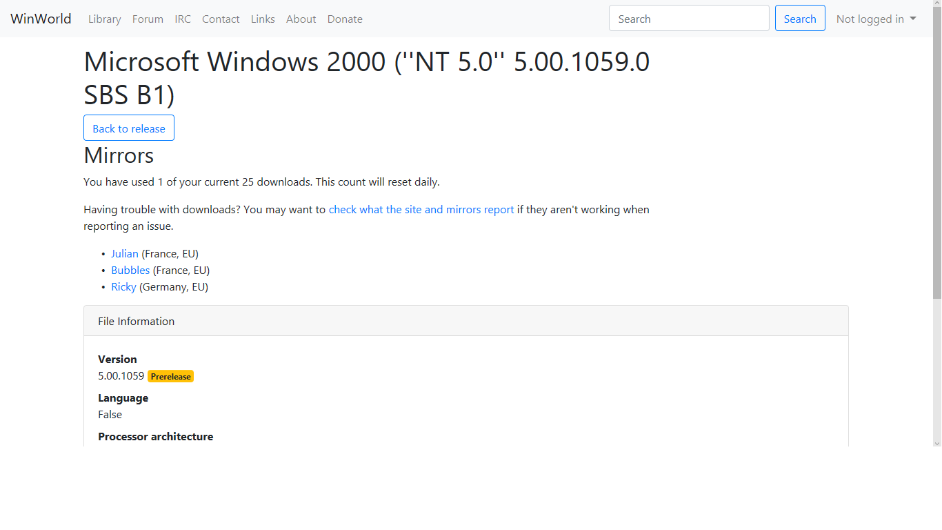 View topic - Windows NT 5 0 build 1059(5 00 1059) found on
