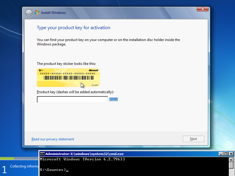 view windows 8 product key command line