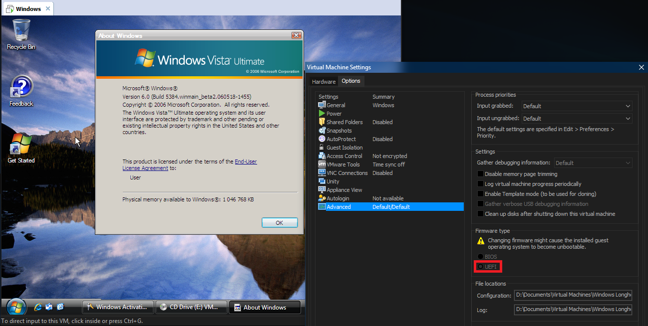 View topic - Windows Vista 5384 x64 CAN boot in UEFI mode