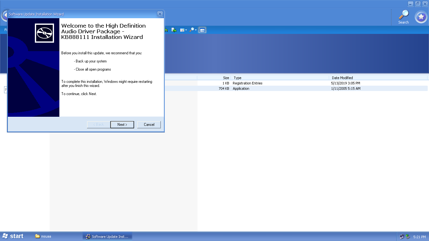 high definition audio driver package kb888111 download