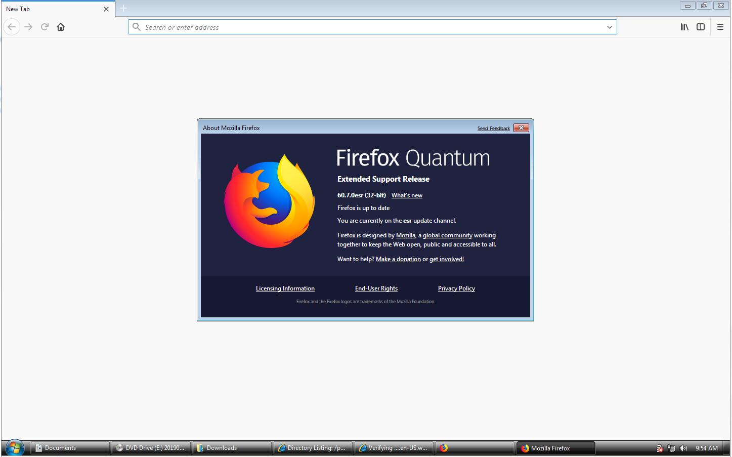 Latest Mozilla Firefox On Windows 7 Betas