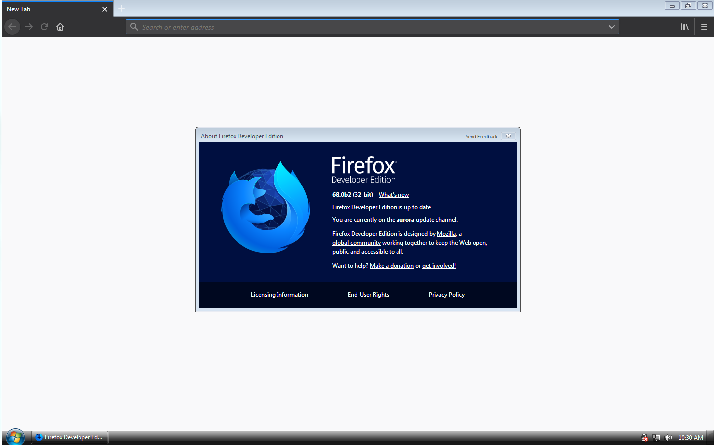 View topic - Latest Mozilla Firefox on Windows 7 betas