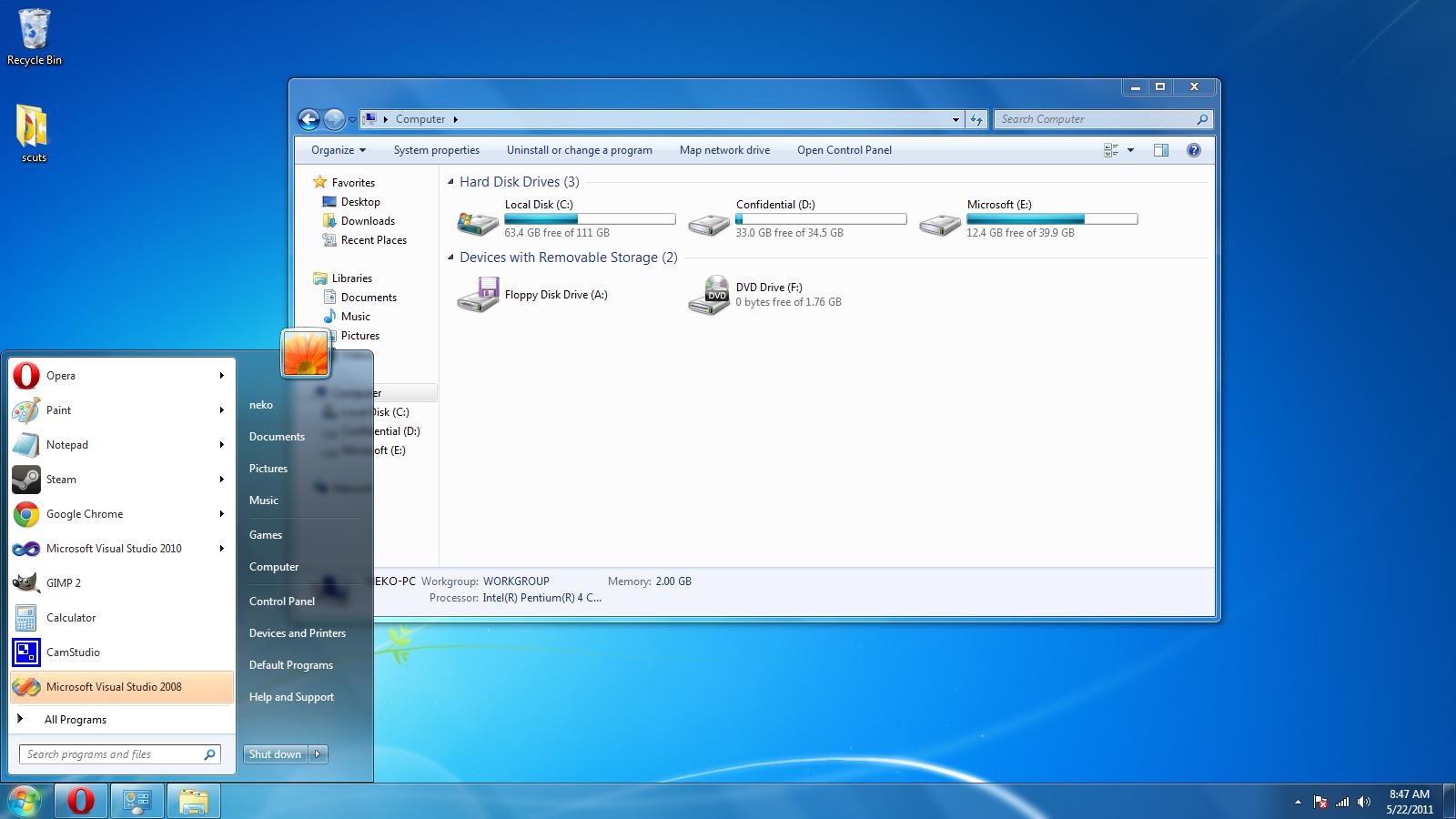Windows Home Premium Seven