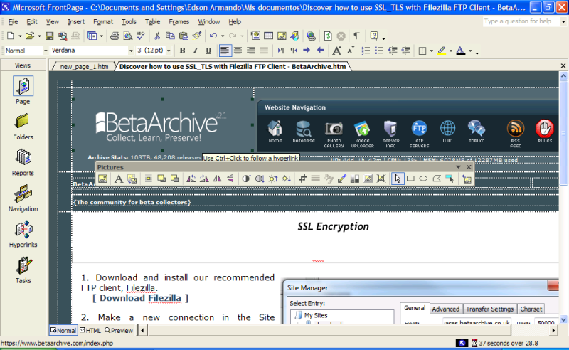File:Office XP FrontPage Main.png