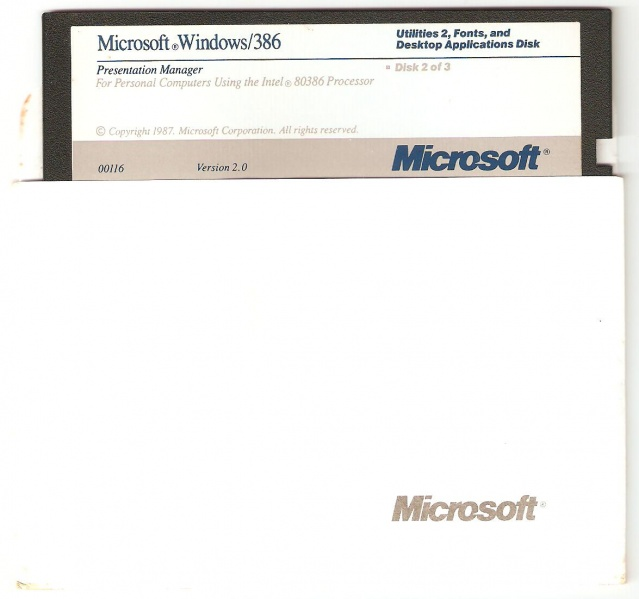 File:Windows 386 Disk 2.jpg