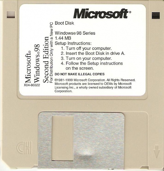 File:Windows 98 SE OEM Boot Disk.jpg